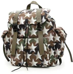 Valentino Jacquard Camouflage Backpack