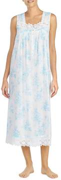Eileen West Floral-Printed Lawn Ballet Nightgown