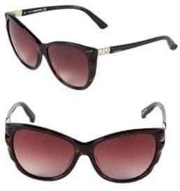 Swarovski Crystal 57MM Butterfly Sunglasses