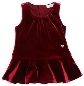 Armani Junior Girls' Velvet Drop-Waist Dress - Baby