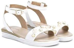 Stuart Weitzman peal embellished sandals