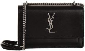 Saint Laurent Sunset Chain Wallet - BLACK - STYLE