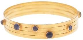 Amrapali 18K Yellow Gold with Iolite Bangle