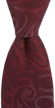Murano Big & Tall Hidden Paisley Traditional Silk Tie