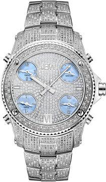 JBW Jet Setter Mens 3 CT. T.W. Diamond Stainless Steel Watch JB-6213-C