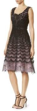 Carolina Herrera Lace Cocktail Dress