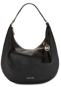 MICHAEL Michael Kors Tassel Leather Hobo Bag - ACORN - STYLE