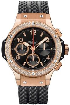 Hublot Big Bang 341.px.130.rx.114 18K Rose Gold & Diamonds Chronograph 41mm Mens Watch