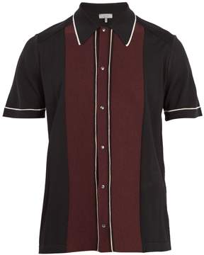 Lanvin Contrast-panel button-down wool polo shirt