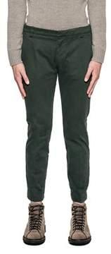 Entre Amis Men's Green Cotton Pants.