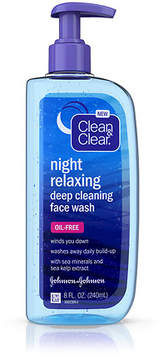 Clean & Clear Night Relaxing Deep Cleaning Face Wash, Oil Free