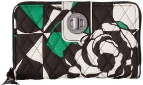 Vera Bradley Turnlock Wallet Bill-fold Wallet - IMPERIAL ROSE - STYLE