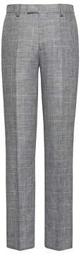 Banana Republic Slim Gray Plaid Linen Suit Pant