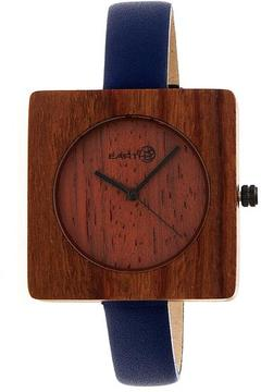 Earth Teton Collection ETHEW3903 Unisex Wood Watch with Leather Strap