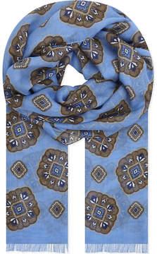 Eton Medallion print cotton-modal scarf