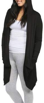 24/7 Comfort Apparel Women's 2-Pocket Hooded Shrug