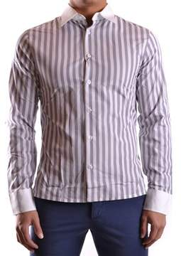 Dirk Bikkembergs Men's White/grey Cotton Shirt.