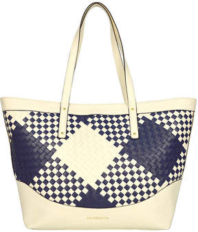 Liz Claiborne Gabby Large Checkered Tote Bag