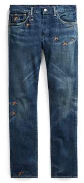 Ralph Lauren Sullivan Slim Embroidered Jean Gunner Embroidered 32