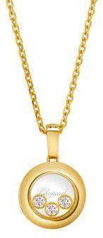 Chopard Happy Diamonds 18K Yellow Gold Pendant Necklace