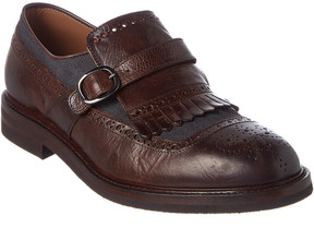 Brunello Cucinelli Brouge Leather Loafer