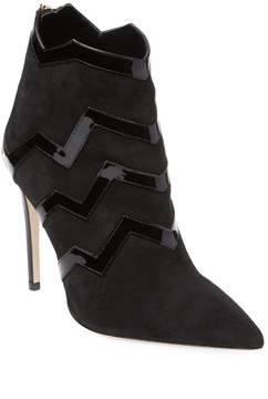 Aperlaï Women's Chevron Leather Bootie