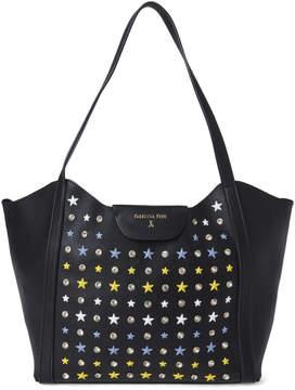 Patrizia Pepe Crystal & Star Studded Black Shopper Bag