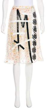 Christopher Kane Lace Embroidered Knee-Length Skirt