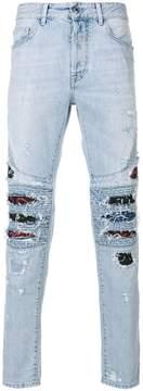 Marcelo Burlon County of Milan Snakes biker jeans