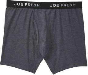 Joe Fresh Men's Jersey Boxer Brief, Charcoal Mix (Size S)