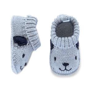 Carter's Blue Puppy Booties-Newborn