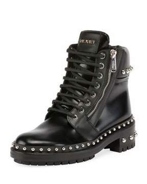 Balmain Ranger Studded Leather Army Boot