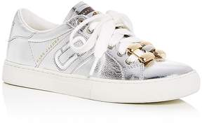 Marc Jacobs Women's Empire Leather Chain Link Lace Up Sneakers