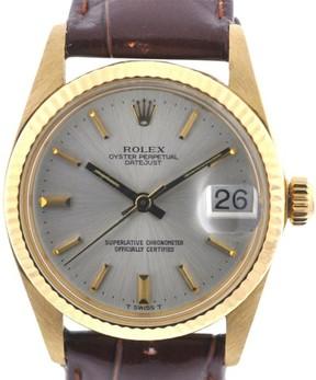 Rolex Vintage 6827 31mm 18K Yellow Gold Midsize Datejust 5 Million Serial Watch