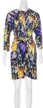 Matthew Williamson Printed Silk Mini Shift Dress