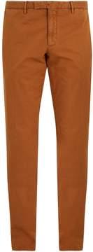 Boglioli Mid-rise straight-leg cotton-blend chino trousers
