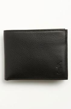 Polo Ralph Lauren Men's Leather Passcase Wallet - Black