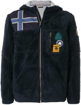 Napapijri zipped fleece hoody