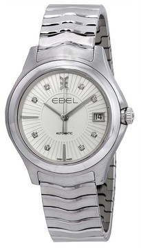 Ebel Wave Grande Automatic Silver Diamond Dial Ladies Watch