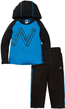New Balance Blue & Navy Color Block Hoodie & Pants - Toddler & Boys