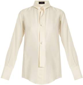 Joseph Harold high-neck silk-blend blouse