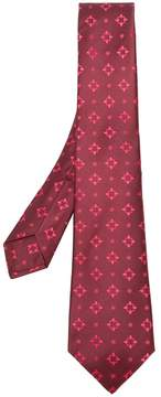 Kiton pattern embroidered tie