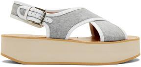 Flamingos Grey Jersey Malabar Sandals