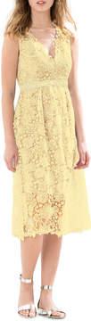 Donna Morgan Lace V-Neck Midi Dress