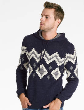 Lucky Brand INTARSIA HOODED SWEATER