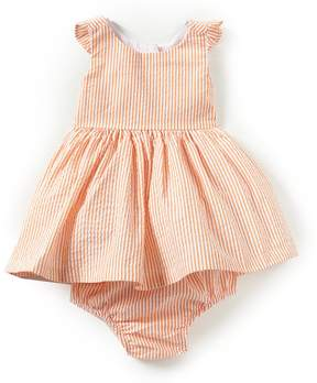 Rare Editions Baby Girls 3-24 Months Seersucker Striped Bow Dress