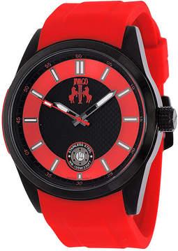 Jivago Rush Mens Black Dial Red Strap Watch