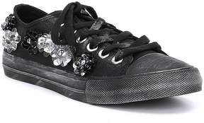Naughty Monkey Michelle Bead and Brooch Detail Sneakers