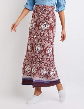 Charlotte Russe Paisley Print Maxi Skirt