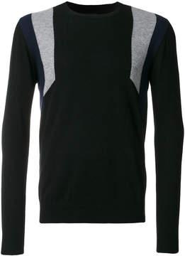 Les Hommes knit contrast stripe top